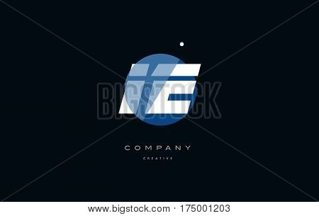 Ie I E  Blue White Circle Big Font Alphabet Company Letter Logo