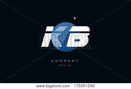 Kb K B  Blue White Circle Big Font Alphabet Company Letter Logo