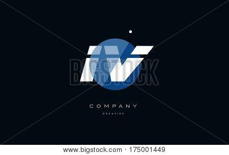 Iv I V  Blue White Circle Big Font Alphabet Company Letter Logo