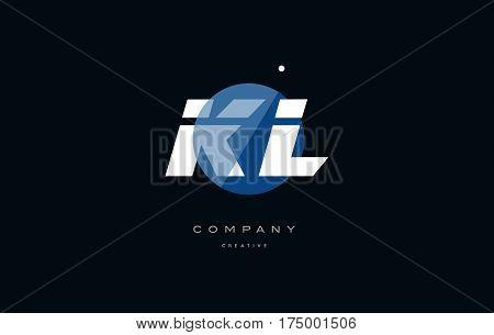 Kl K L  Blue White Circle Big Font Alphabet Company Letter Logo