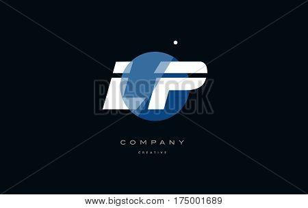 Lp L P  Blue White Circle Big Font Alphabet Company Letter Logo