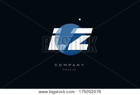 Lz L Z  Blue White Circle Big Font Alphabet Company Letter Logo