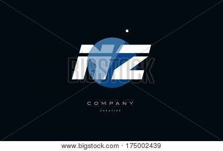 Nz N Z  Blue White Circle Big Font Alphabet Company Letter Logo