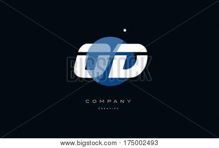 Od O D  Blue White Circle Big Font Alphabet Company Letter Logo