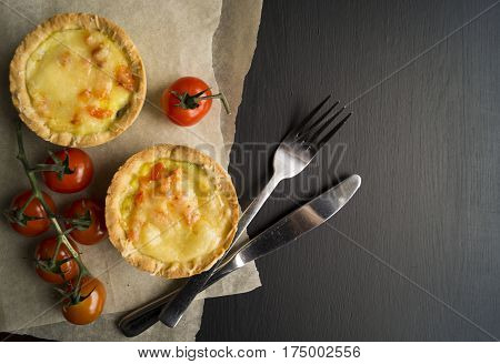 Tartlet With Mozzarella And Cherry Tomatoes