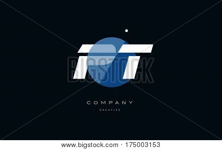 Pt P T  Blue White Circle Big Font Alphabet Company Letter Logo