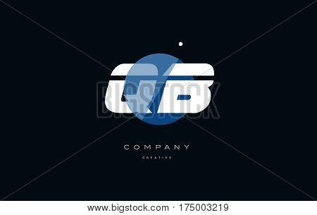 Qb Q B  Blue White Circle Big Font Alphabet Company Letter Logo