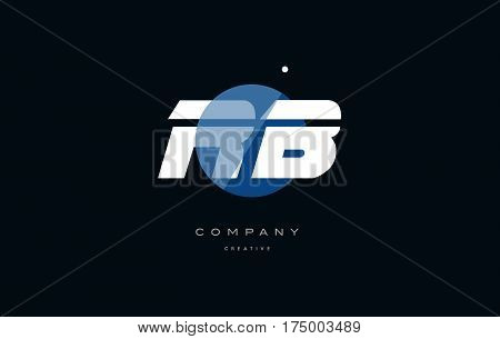 Rb R B  Blue White Circle Big Font Alphabet Company Letter Logo
