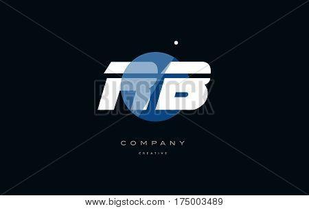 Rb R B  Blue White Circle Big Font Alphabet Company Letter Logo
