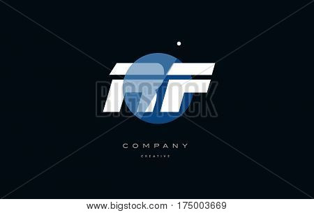 Rf R F  Blue White Circle Big Font Alphabet Company Letter Logo