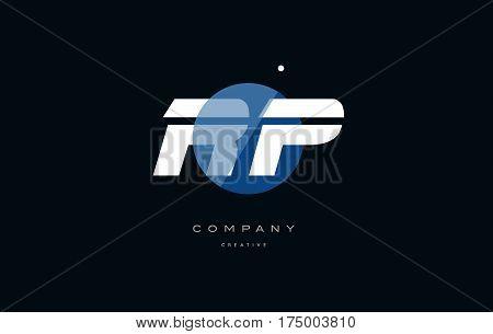 Rp R P  Blue White Circle Big Font Alphabet Company Letter Logo