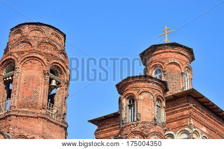 Orthodox Church in St. Petersburg on Borovoy Street 52. It is in ruins.