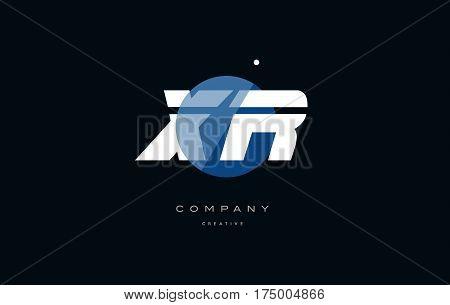 Xr X R  Blue White Circle Big Font Alphabet Company Letter Logo