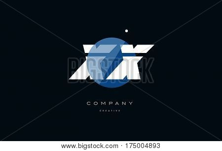 Xx X X  Blue White Circle Big Font Alphabet Company Letter Logo