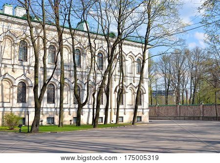 Building of Resurrection Novodevichy Monastery at sunny day in St.Petersburg Russia.