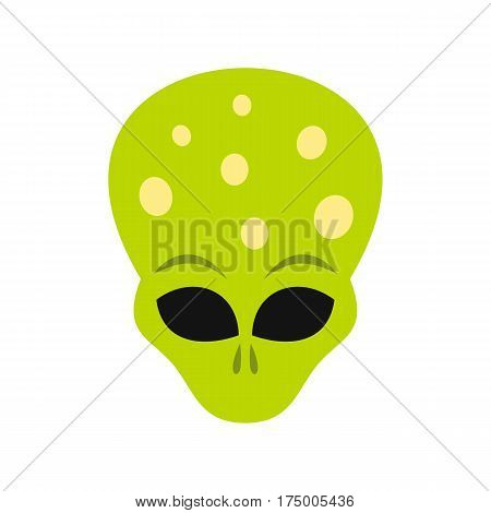 Alien icon isolated on white background vector illustration