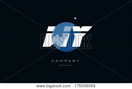 Wy W Y  Blue White Circle Big Font Alphabet Company Letter Logo