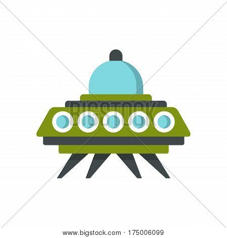 Alien spaceship icon isolated on white background vector illustration