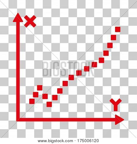 Function Plot icon. Vector illustration style is flat iconic symbol, red color, transparent background. Designed for web and software interfaces.