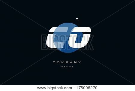 Co C O  Blue White Circle Big Font Alphabet Company Letter Logo
