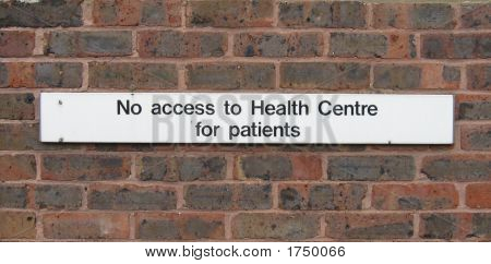 Funny Health Centre Sign
