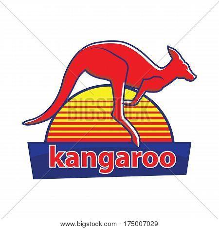 kangaroo Logo. icon with the image of a kangaroo. Vector illustration.