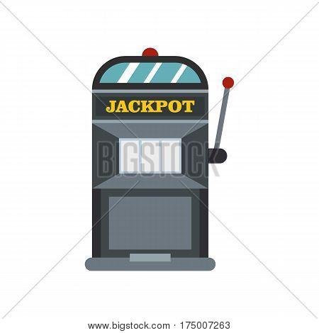 Slot machine icon isolated on white background vector illustration