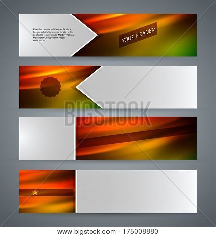 Set Banner Headline Horizontal Layout Hot Background09