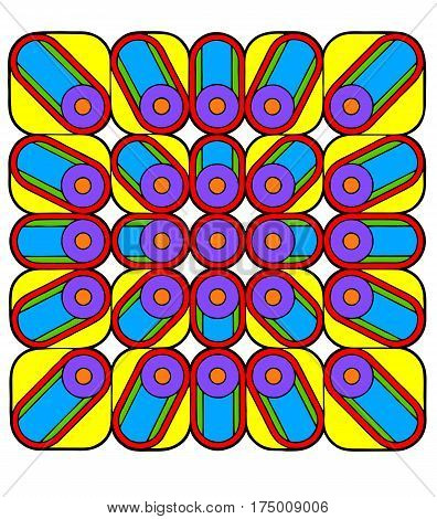 Sixties op art style geometric design, geometric abstract