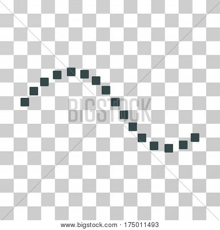 Dotted Function Line icon. Vector illustration style is flat iconic symbol, soft blue color, transparent background. Designed for web and software interfaces.