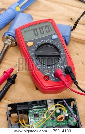 Red Digital Multimeter