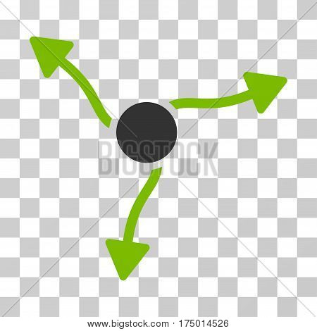Curve Arrows icon. Vector illustration style is flat iconic bicolor symbol, eco green and gray colors, transparent background. Designed for web and software interfaces.