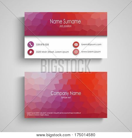 Business card with poly flow pattern vector eps 10