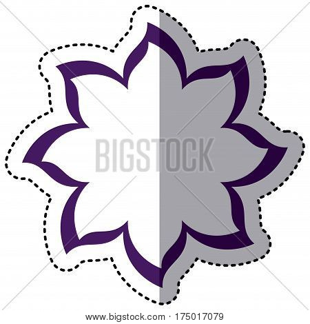 purple flower with pointed petals icon, vector illustraction design