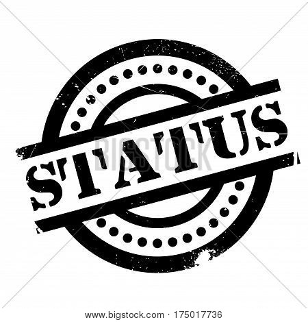 Status rubber stamp. Grunge design with dust scratches. Effects can be easily removed for a clean, crisp look. Color is easily changed.