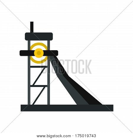 Equipment for washing rocks icon in flat style isolated on white background vector illustration