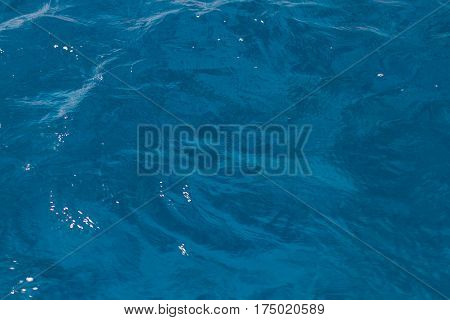 Just a photo of sea water through a polarization filter