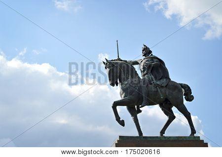King Tomislav statue in Zagreb, capital of Croatia