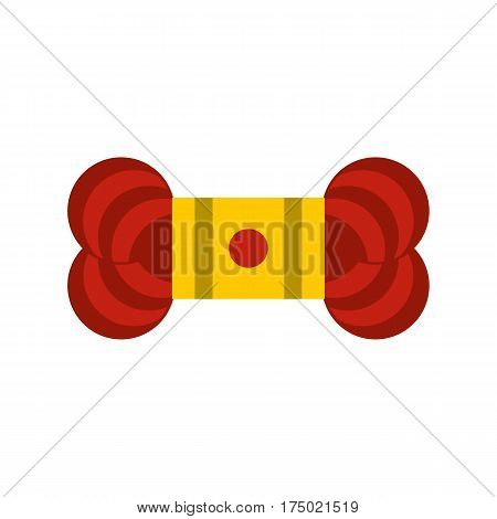Skein of yarn icon in flat style isolated on white background vector illustration