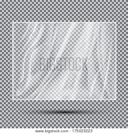Transparent Light Polyethylene Banner.
