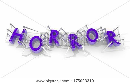 Horror Movie Spiders Scary Fear Letters Word 3d Illustration