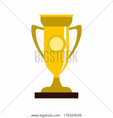 Winning cup icon in flat style isolated on white background vector illustration