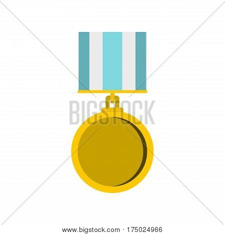 Medal for services icon in flat style isolated on white background vector illustration