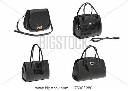 Women's Leather Bag On A White Background3