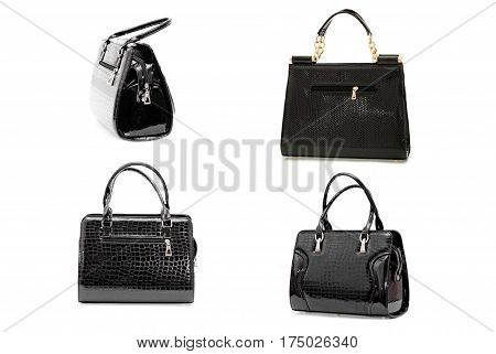 Women's Leather Bag On A White Background8