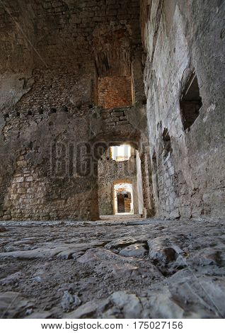 Inside Of An Ancient Fortess Used By Soldiers During The First W