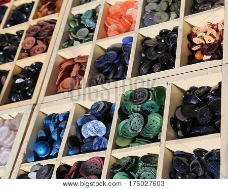 Buttons On Sale In Italian Haberdashery