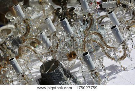 Antique Glass Chandelier And Crystal For Sale In Antiques Market
