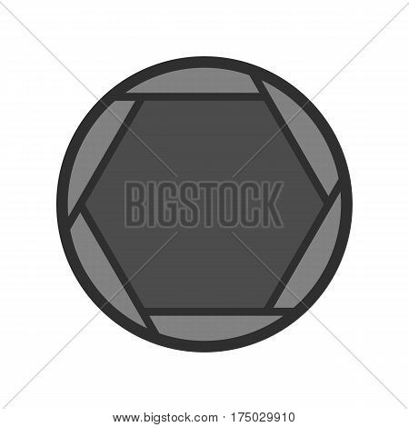 Closed objective icon isolated on white background vector illustration