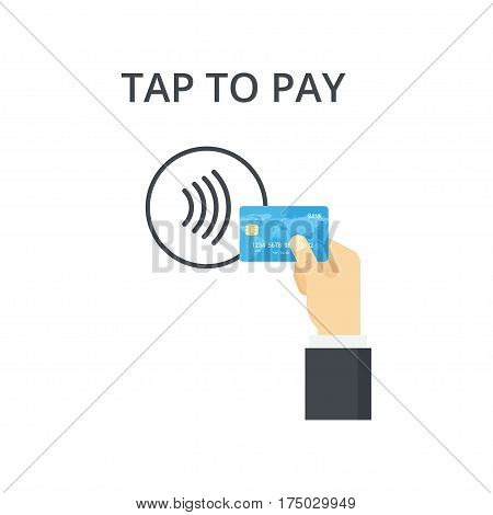 Tap to pay concept - vector sign. Contactless payment icon.